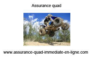 Assurance pour votre quad immédiatement